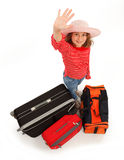 Little traveller girl Stock Photo