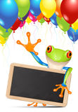 Little tree frog message Stock Photos