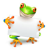 Little tree frog message Stock Photo