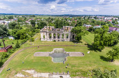 Little Trianon aerial view Royalty Free Stock Photo