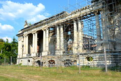 Little Trianon - ruins of the Gheorghe Grigore Cantacuzino s palace. Royalty Free Stock Image