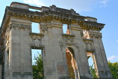 Little Trianon - ruins of the Gheorghe Grigore Cantacuzino s palace. Royalty Free Stock Photo