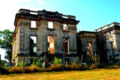 Little Trianon - ruins of the Gheorghe Grigore Cantacuzino s palace. Stock Images