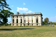 Little Trianon - ruins of the Gheorghe Grigore Cantacuzino s palace. Stock Photos