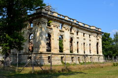 Little Trianon - ruins of the Gheorghe Grigore Cantacuzino s palace. Royalty Free Stock Photos