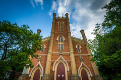 Little Trinity Anglican Church, in Corktown, Toronto, Ontario. Royalty Free Stock Photo