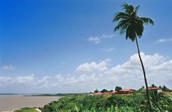 Little Tropical Village. Old village in the tropical waters of Brazil Royalty Free Stock Image
