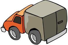 Little Truck. Line-art cartoon stock illustration