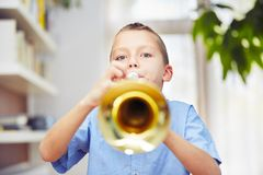 Little trumpeter Royalty Free Stock Photo