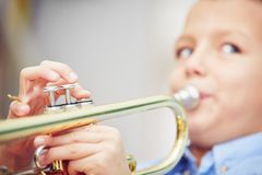 Little trumpeter Stock Image