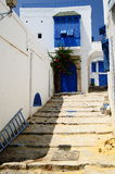 Little tunisian's street. Sidi bou said stock images