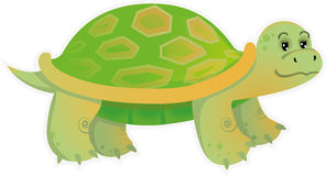 Little turtle. Cute little turtle, vector illustration. Layers are managed and arranged for easy editing Stock Photos