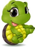 Little turtle. That sits on a white background royalty free illustration