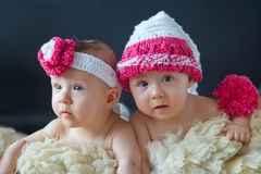 Little twins Royalty Free Stock Images
