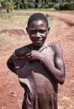 Little ugandan boy in Jinja royalty free stock photo