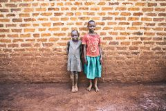 Little ugandan children in Jinja royalty free stock photo