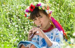 Little Ukrainian Royalty Free Stock Photos