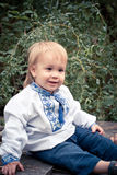 Little Ukrainian boy in the national clothes Royalty Free Stock Images