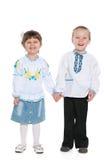 Little Ukrainian children Stock Images