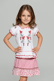 Little Ukrainian girl Stock Photo
