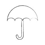 Little umbrella isolated icon Royalty Free Stock Images