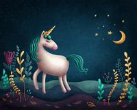 little unicorn Royaltyfri Fotografi