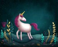 little unicorn Royaltyfria Bilder