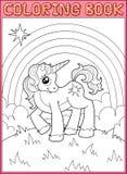 little unicorn Royaltyfri Bild