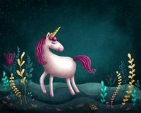 Little unicorn. Illustration of a little unicorn Vector Illustration