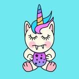 Little Unicorn Monster. A cute little Unicorn Monster character. Vector illustration Royalty Free Stock Image
