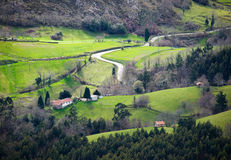 Little valley in Asturias, Spain. Stock Image