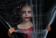 Little vampire girl Stock Photo