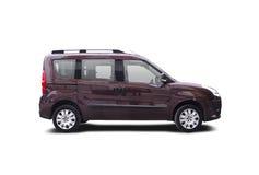 Little van. Brown van Fiat Doblo isolated on white Stock Photos