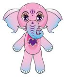 Little vector elephant Stock Images