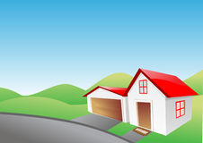 Little vector house Royalty Free Stock Image