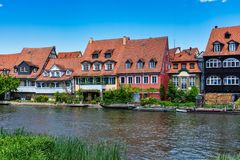 Little Venice at Bamberg in Bavaria, Germany royalty free stock images