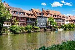 Little Venice at Bamberg in Bavaria, Germany royalty free stock photo