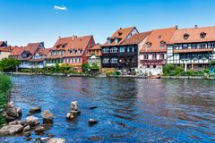 Little Venice at Bamberg in Bavaria, Germany stock photography
