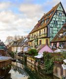 The little Venice of Colmar - is a picturesque old tourist area near the historic center of Colmar, Haut-Rhin, Alsace, France Royalty Free Stock Images