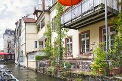 Little Venice in Freiburg. Stock Photos