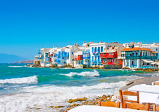 Free Little Venice In Mykonos Stock Image - 23614511