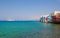 Little Venice on Mykonos Stock Photos