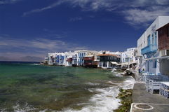 Little Venice on  Mykonos Stock Photo