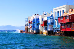 Little Venice, Mykonos Stock Photo
