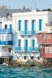 `Little Venice` on Mykonos stock photos