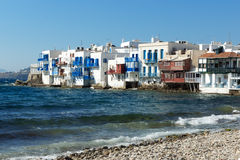 Little Venice at Mykonos, Cyclades, Greece Stock Images