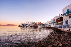 Little Venice in Mykonos Royalty Free Stock Photos