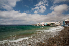 Little Venice in Mykonos, Greece Royalty Free Stock Photos