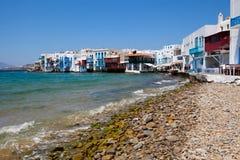 Little Venice, Mykonos, Greece Royalty Free Stock Image