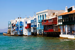 Little Venice, Mykonos, Greece Royalty Free Stock Images